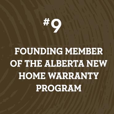 Founding Member of Alberta New Home Warranty Program