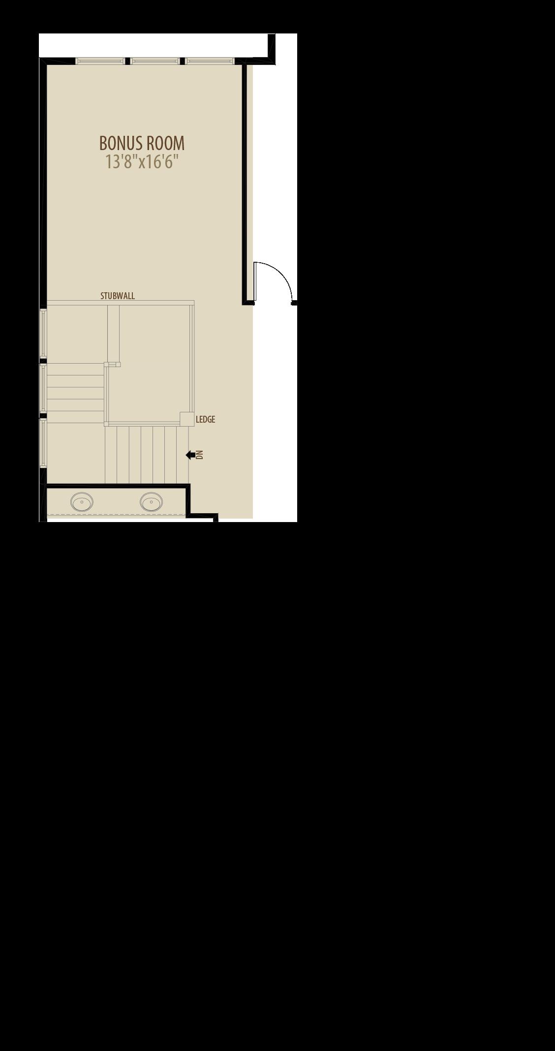 Bonus Room Adds 268 sq ft