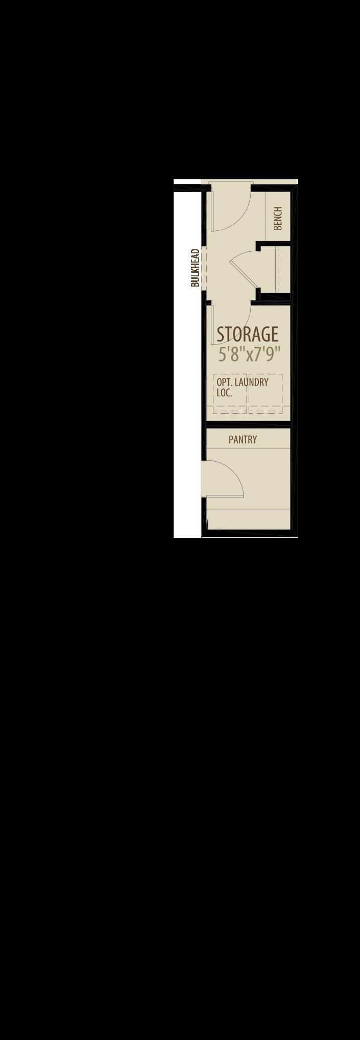 Option 1 Optional Rear Entry Storage