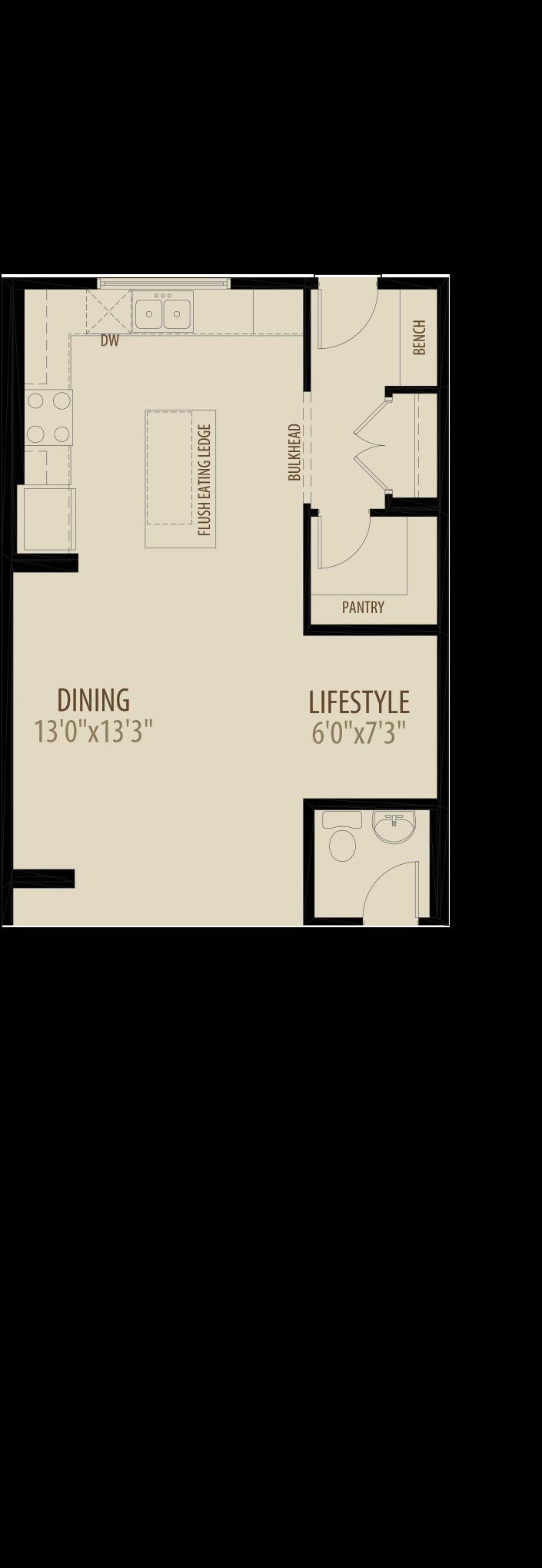 Option 6 Rear Kitchen