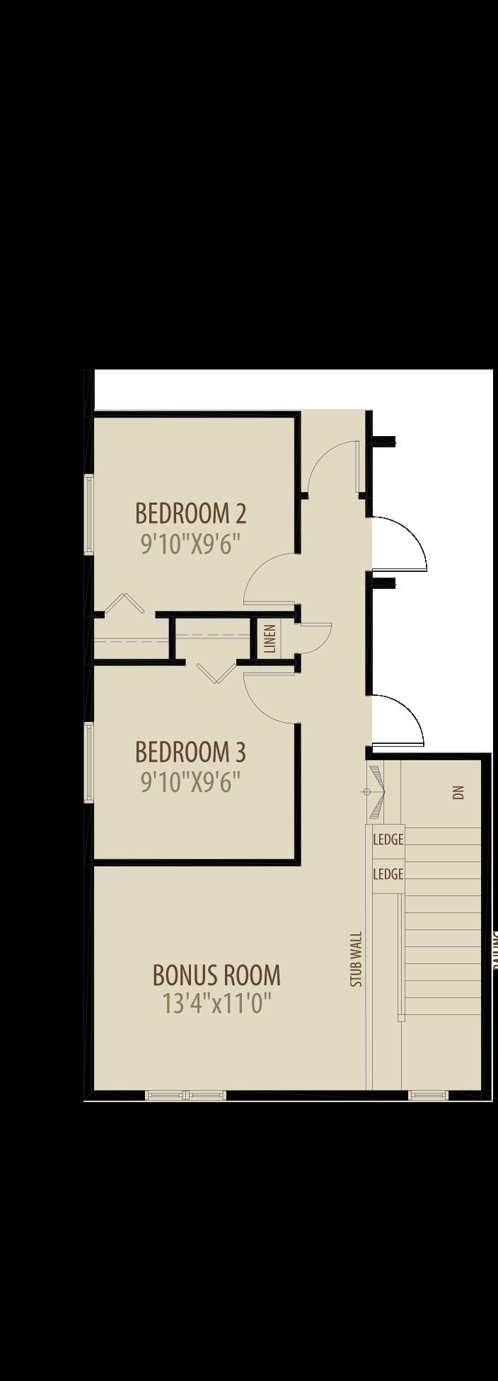 Bonus Room adds 144sq ft