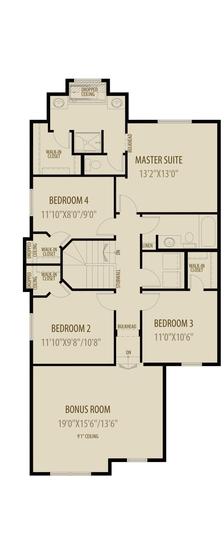 4Th Bedroom W  Revised Ensuite Adds 61Sq Ft