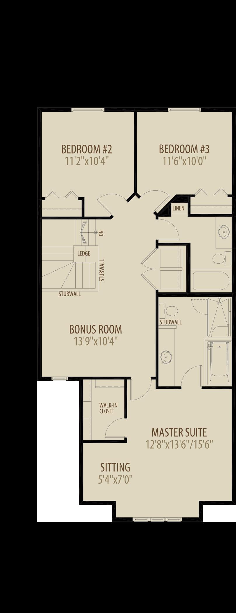 Optional Bonus Room adds 241 sq ft