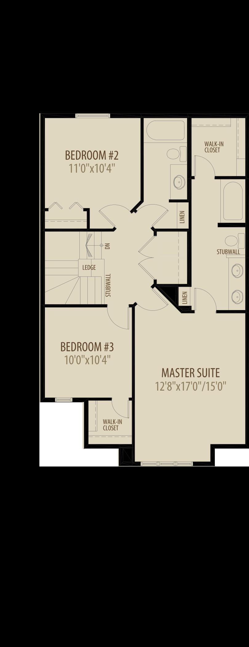 Extended Upper Floor adds 57 sq ft