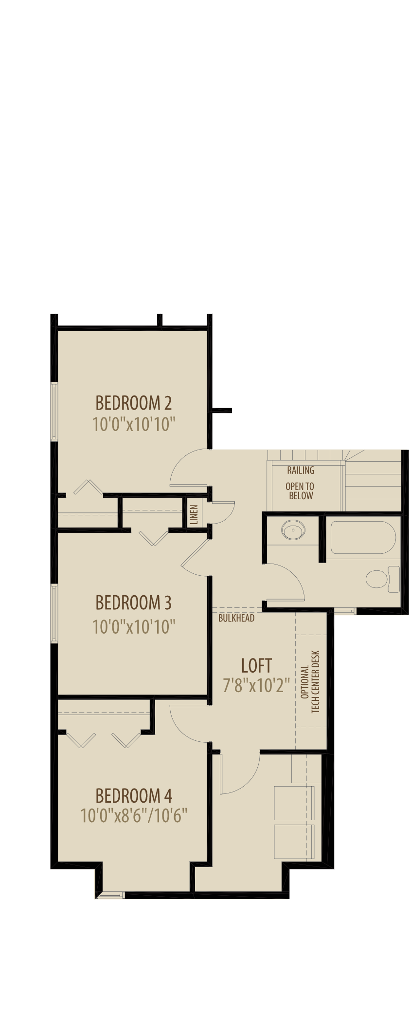 4th Bedroom and Laundry Room