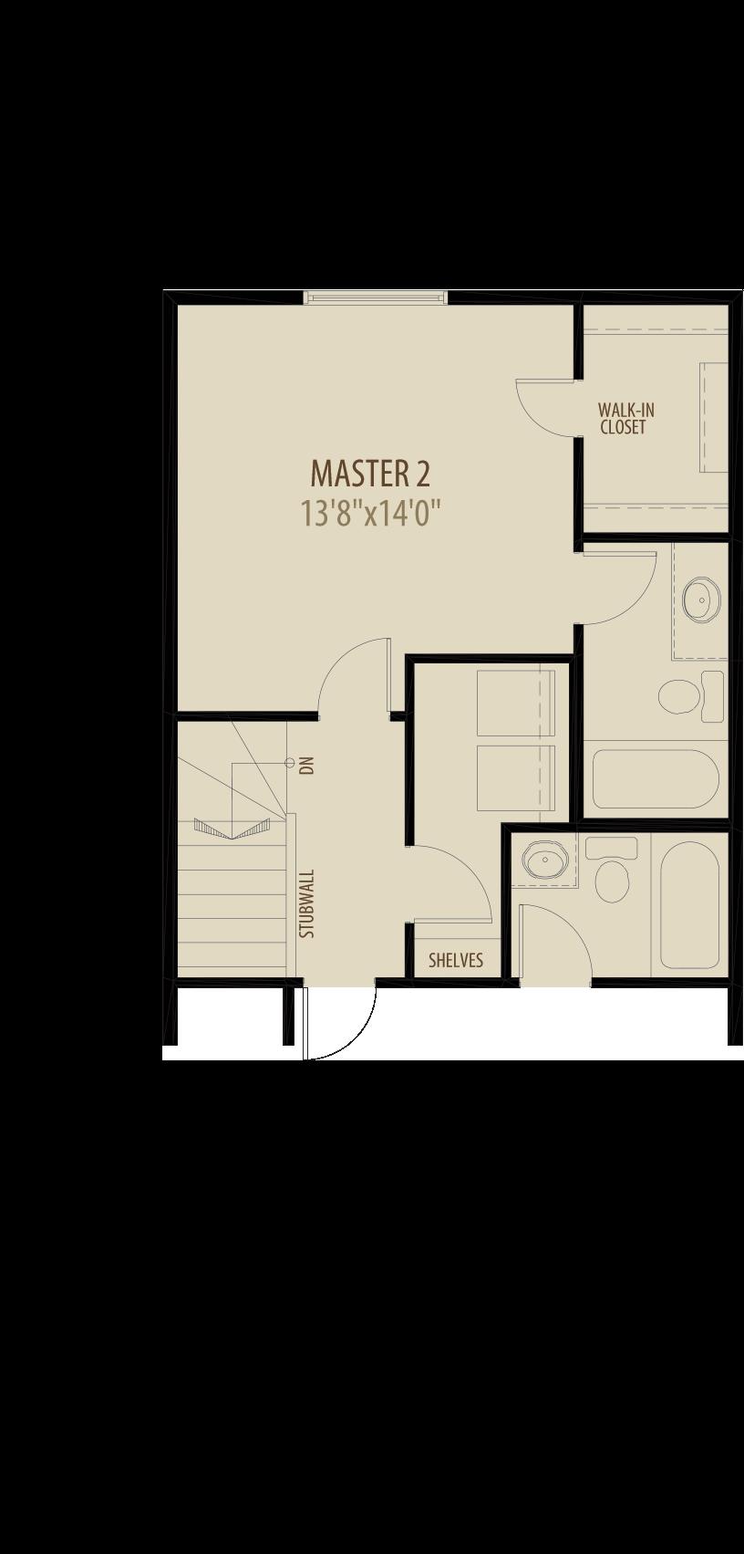 Dual Master Suites w/ Laundry