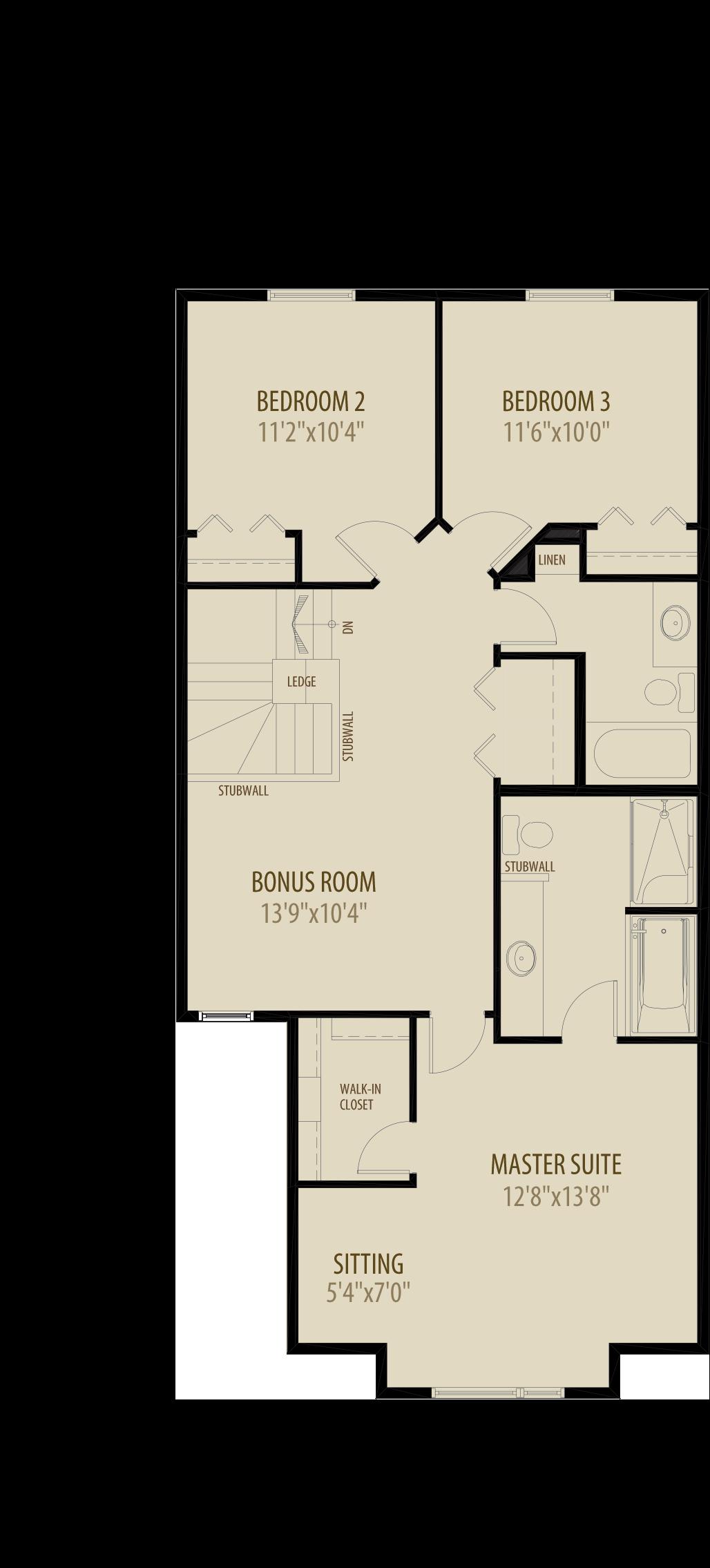 Option 3 Optional Bonus Room adds 241 sq ft
