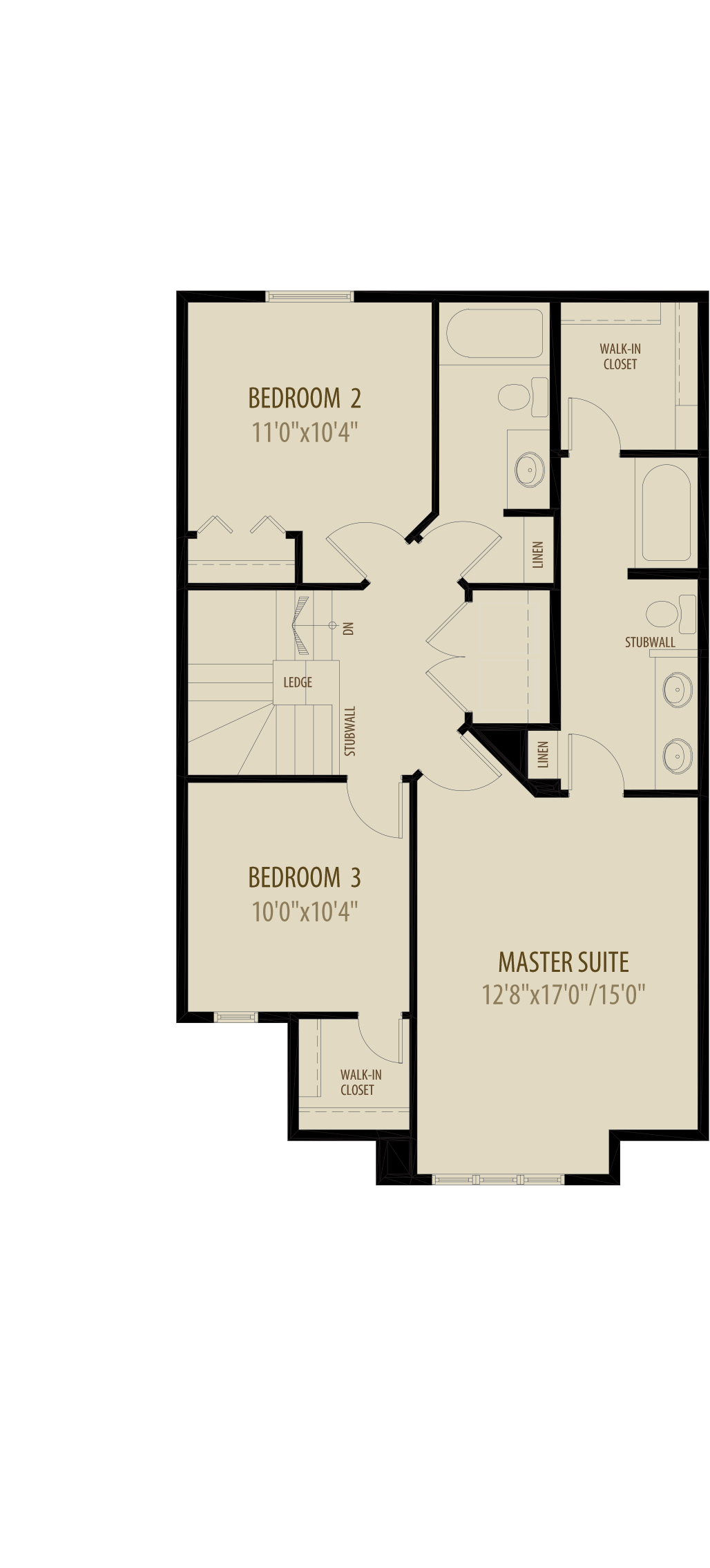 Option 5 Extended Upper Floor adds 57sq ft