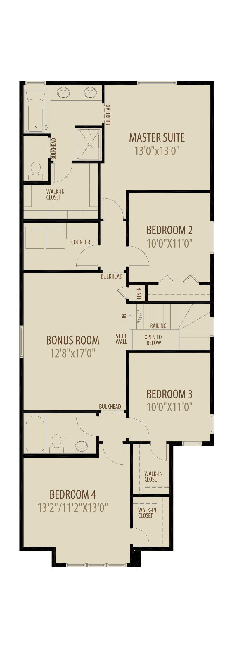 4th Bed Central Bonus Room adds 236 sq ft