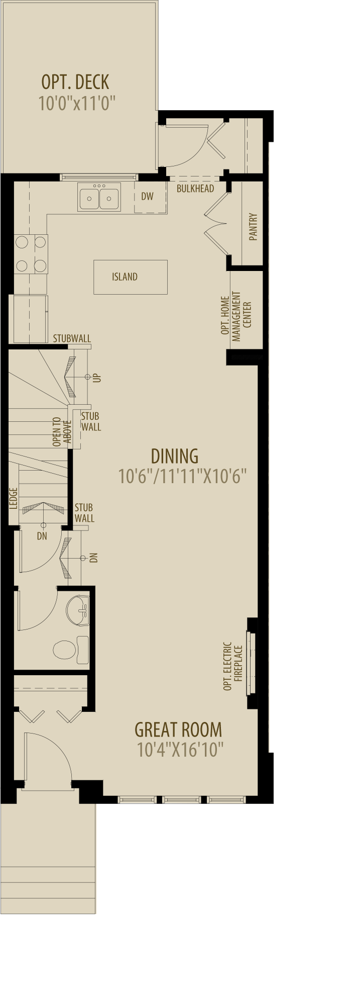 Rear Kitchen Main Floor