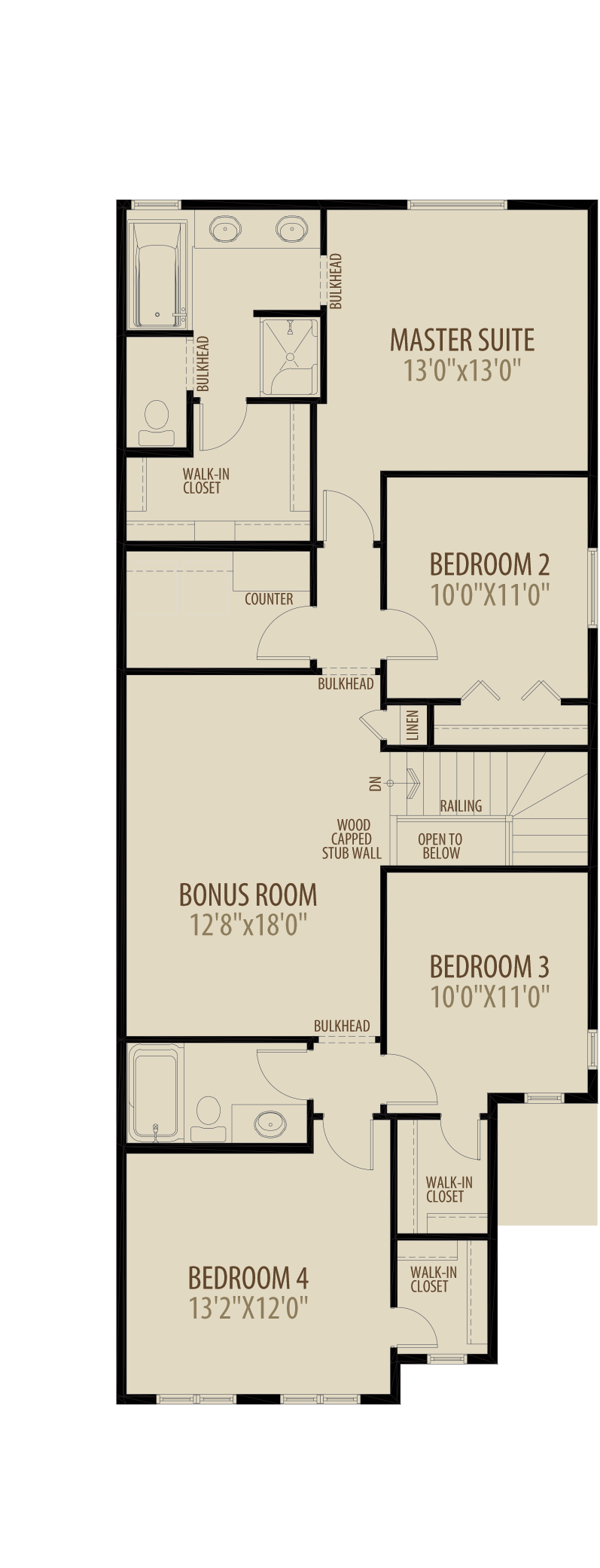 4th Bed Central Bonus Room 2 adds 236 sq ft