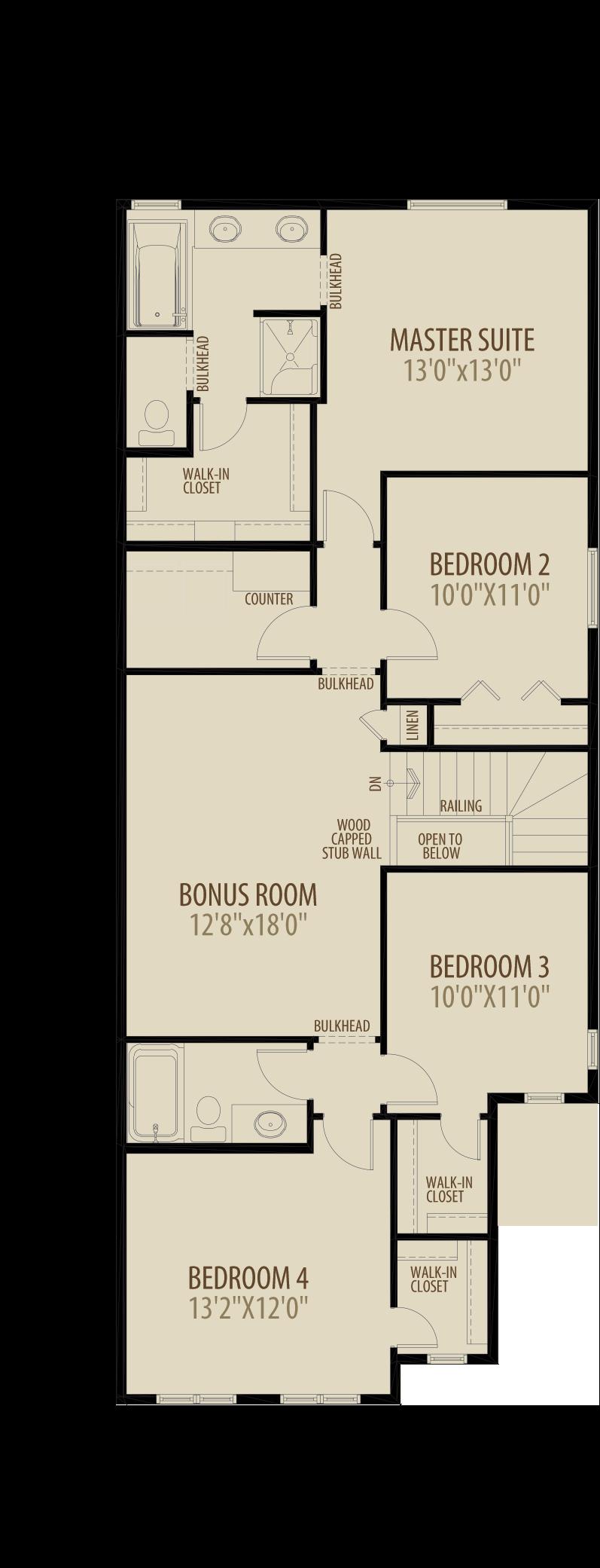 Option 8 4th Bed Central Bonus Room 2 adds 236 sq ft