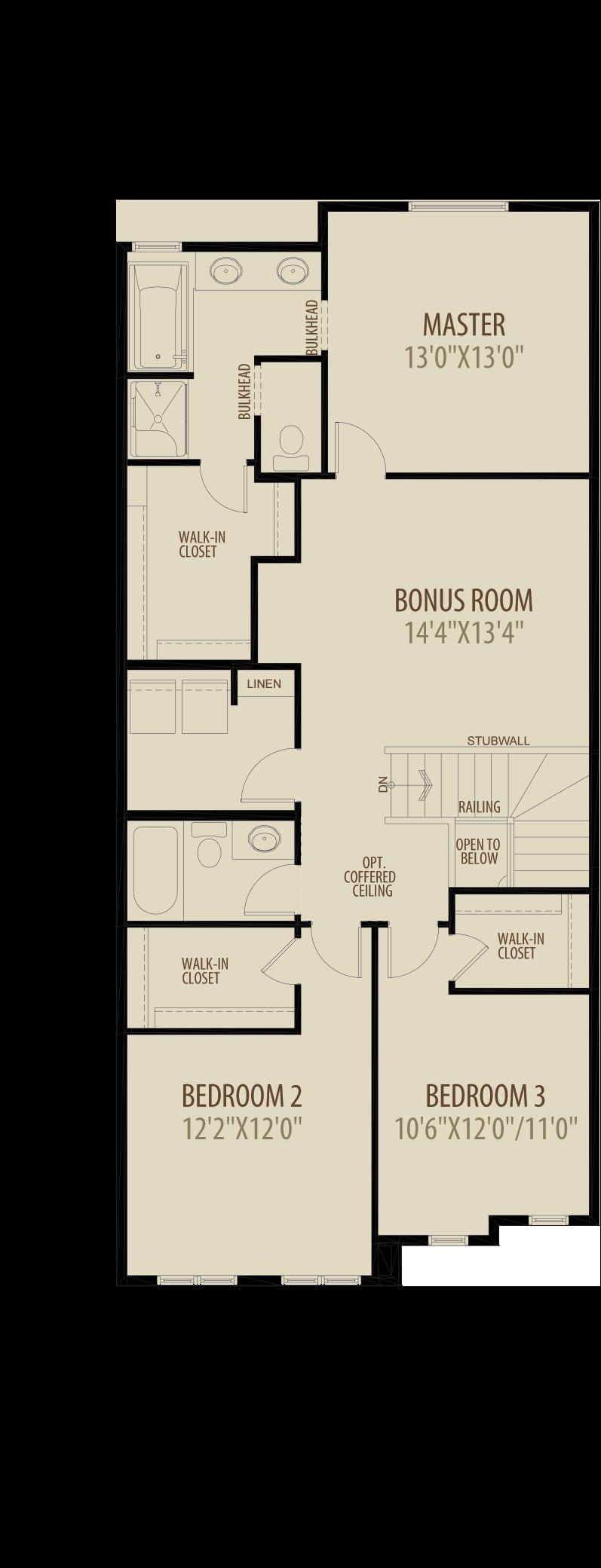 Option 9 Optional Upper Floor 2 adds 133 sq ft