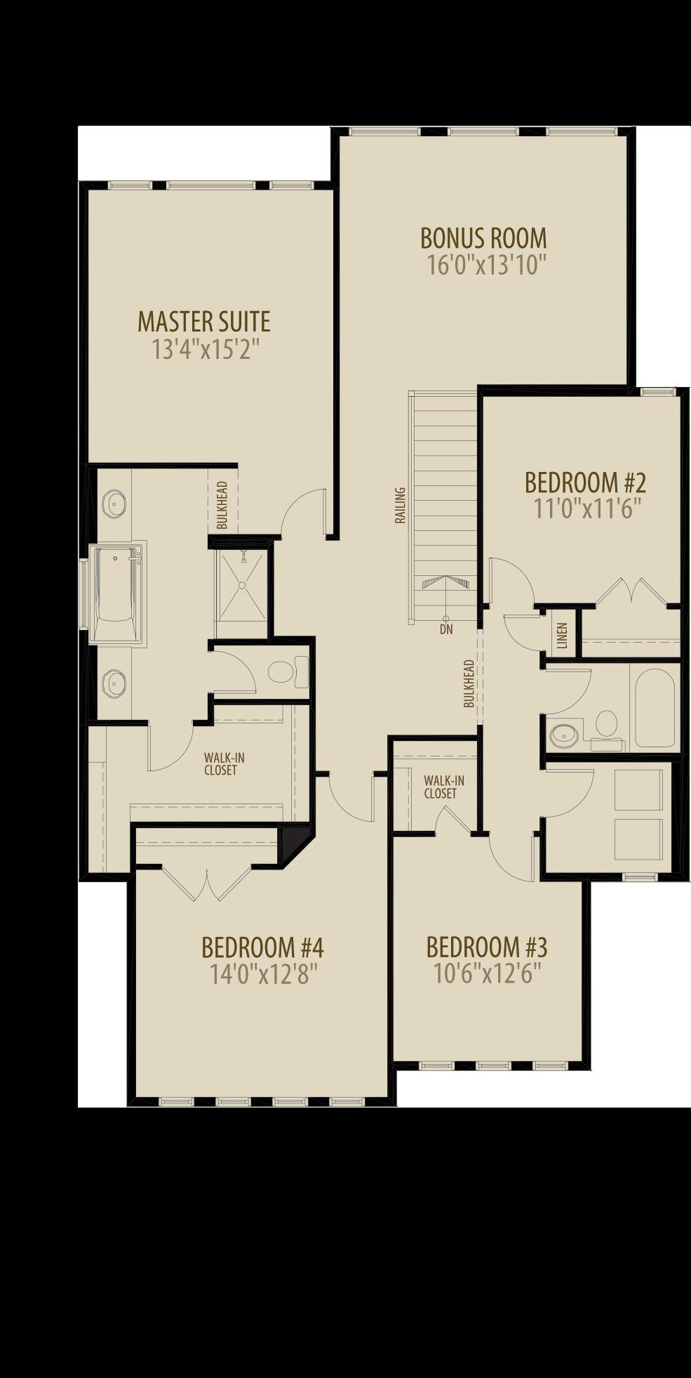 4th Bedroom and Bonus Room adds 270 sq ft