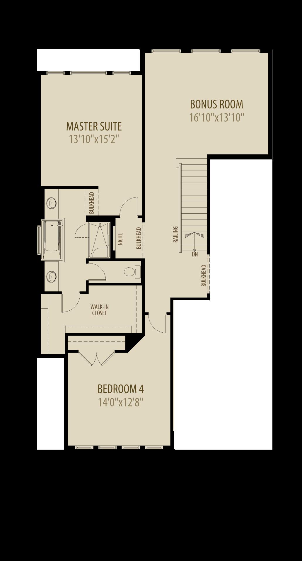 4th bedroom bonus room adds 290sq ft