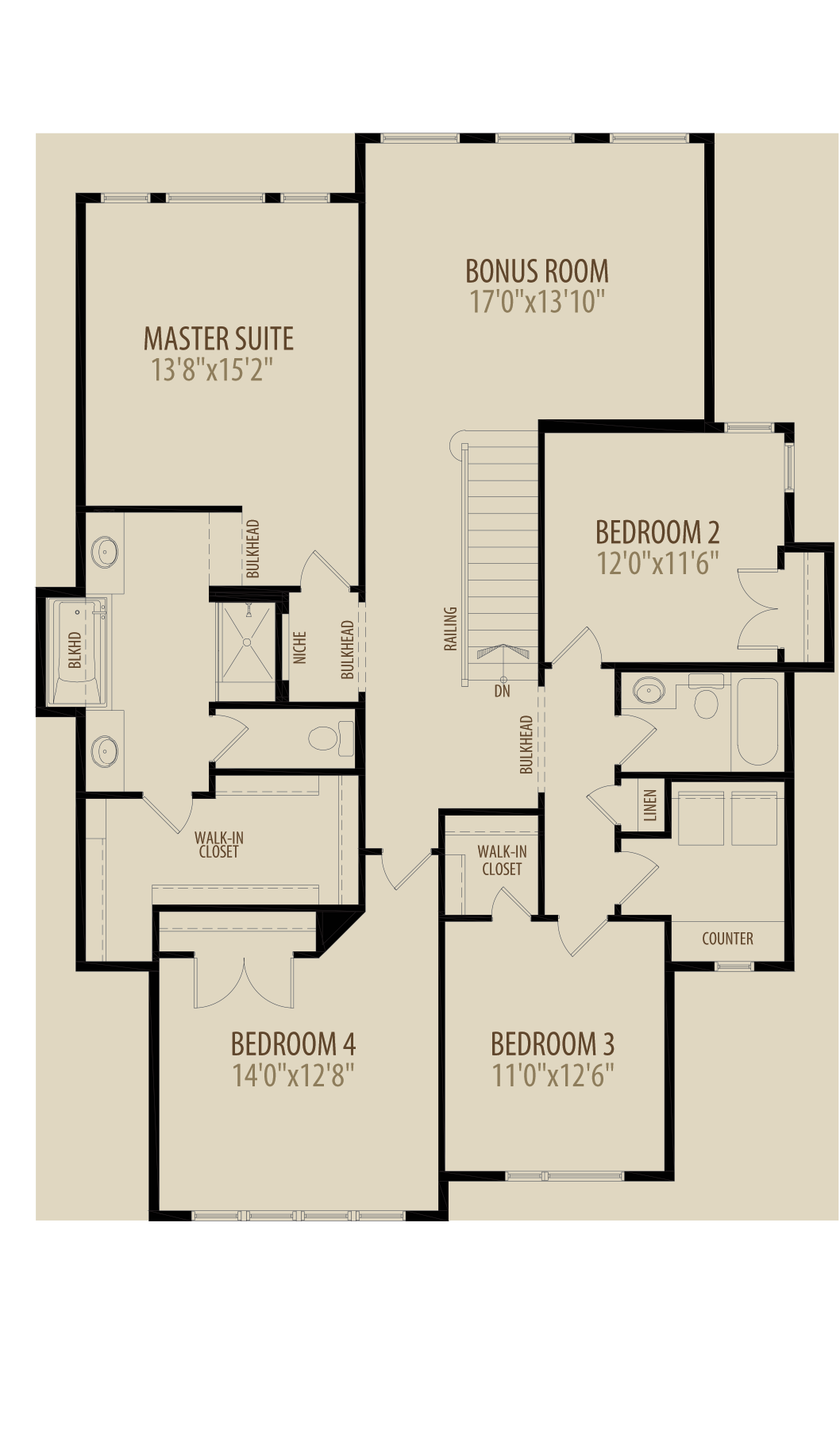Rear Bonus Room Adds 289 sq ft