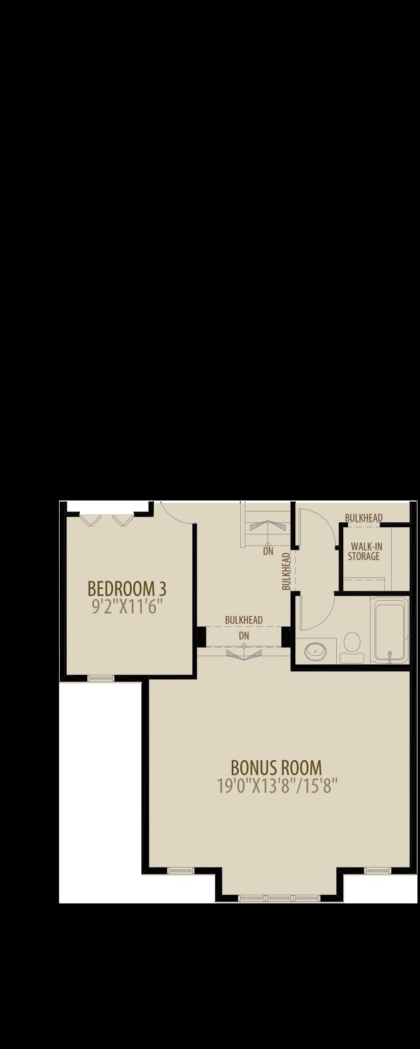 Extended Bonus Room adds 50 sq ft