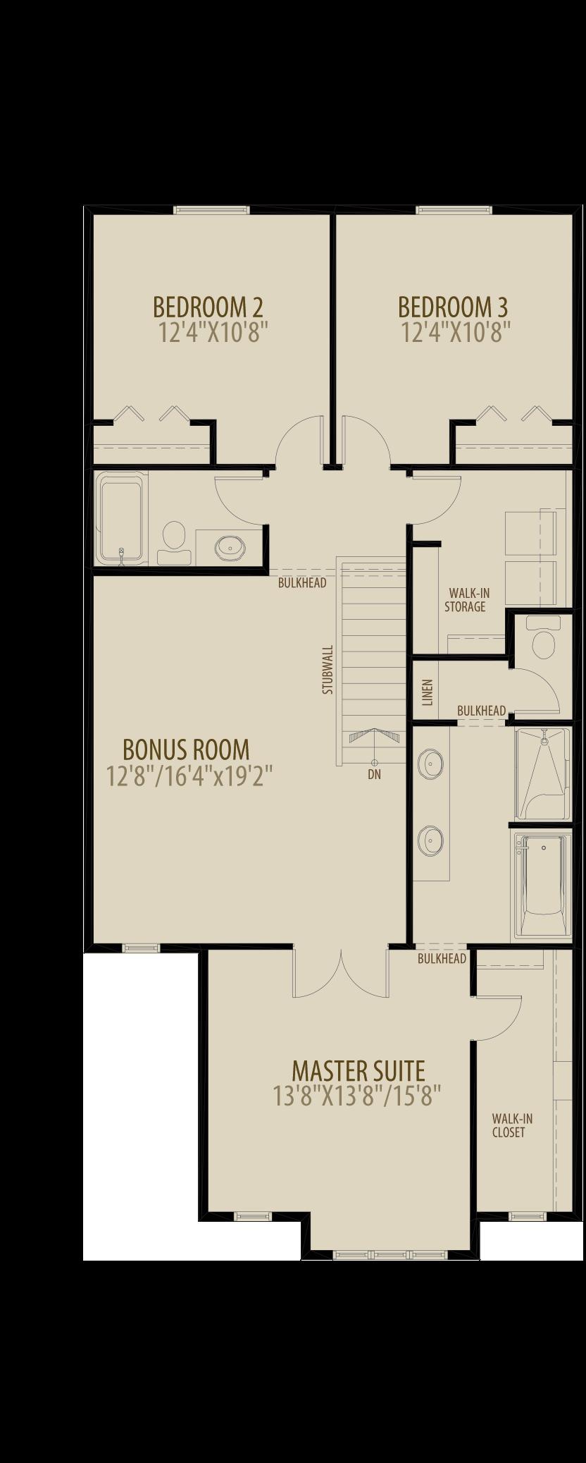 Revised Upper Floor 3 adds 50 sq ft