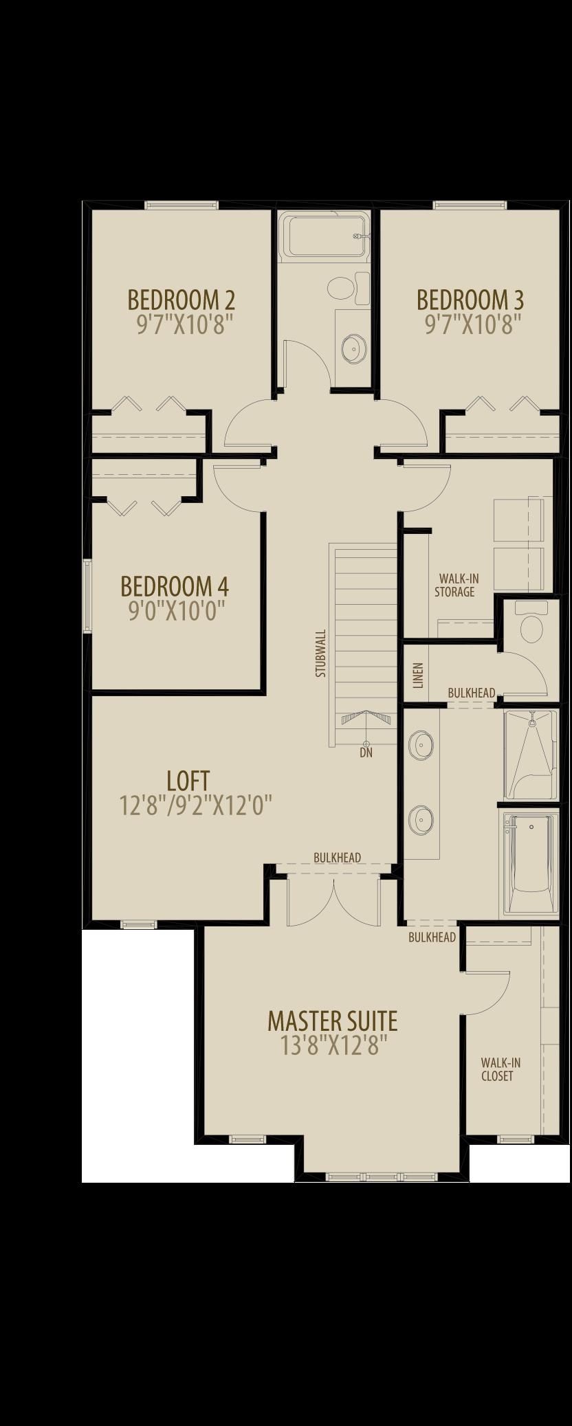 Revised Upper Floor 2 w 4th Bedroom