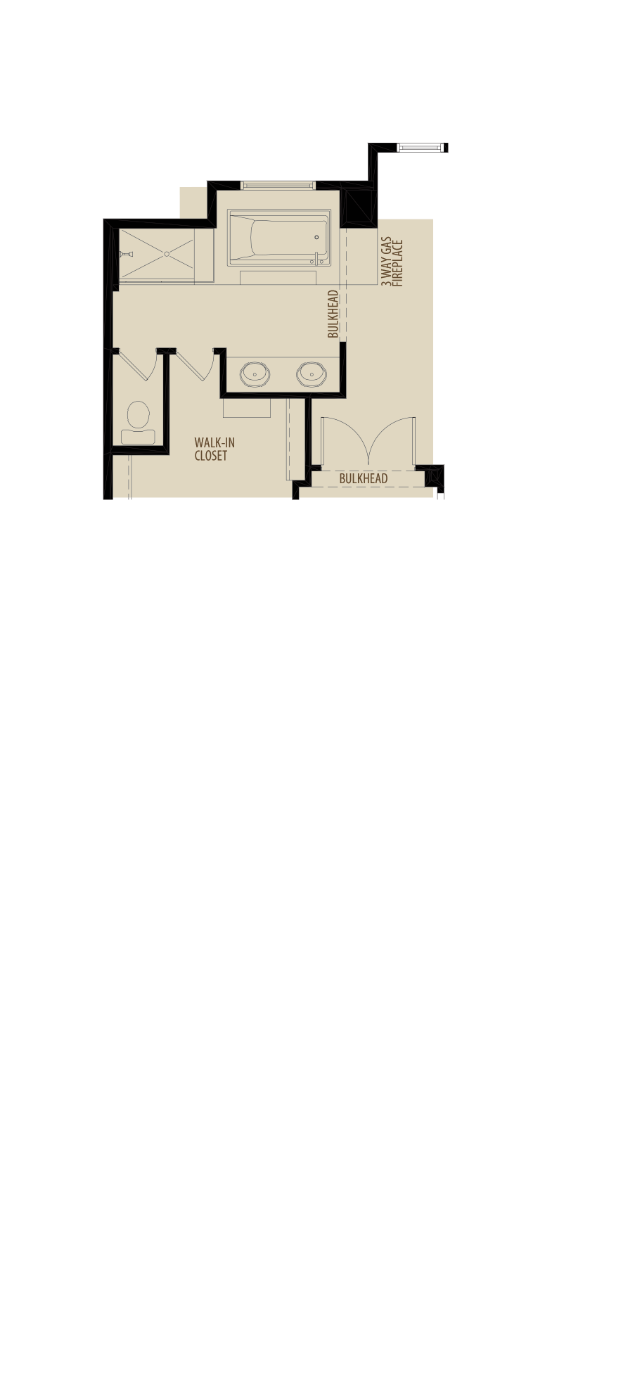 Revised Ensuite Layout adds 7 sq ft