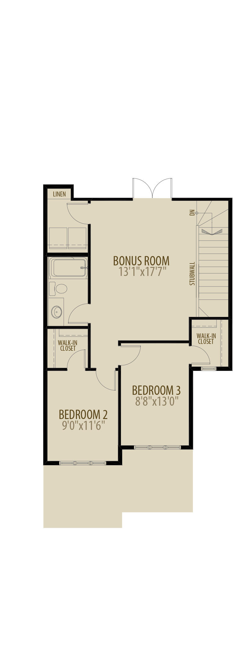 Extended Upper Floor (Adds 57 SQ FT)