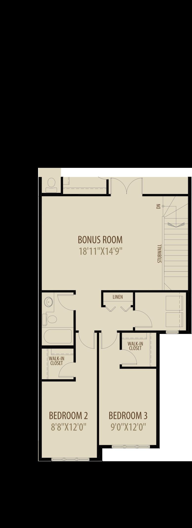 Option 2 Revised Upper Floor Adds 209Sq Ft