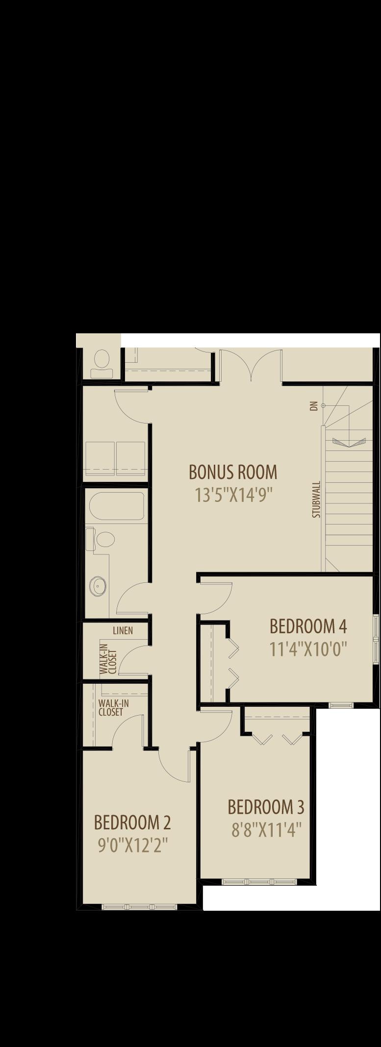Option 3 Revised Upper Floor Adds 229Sq Ft