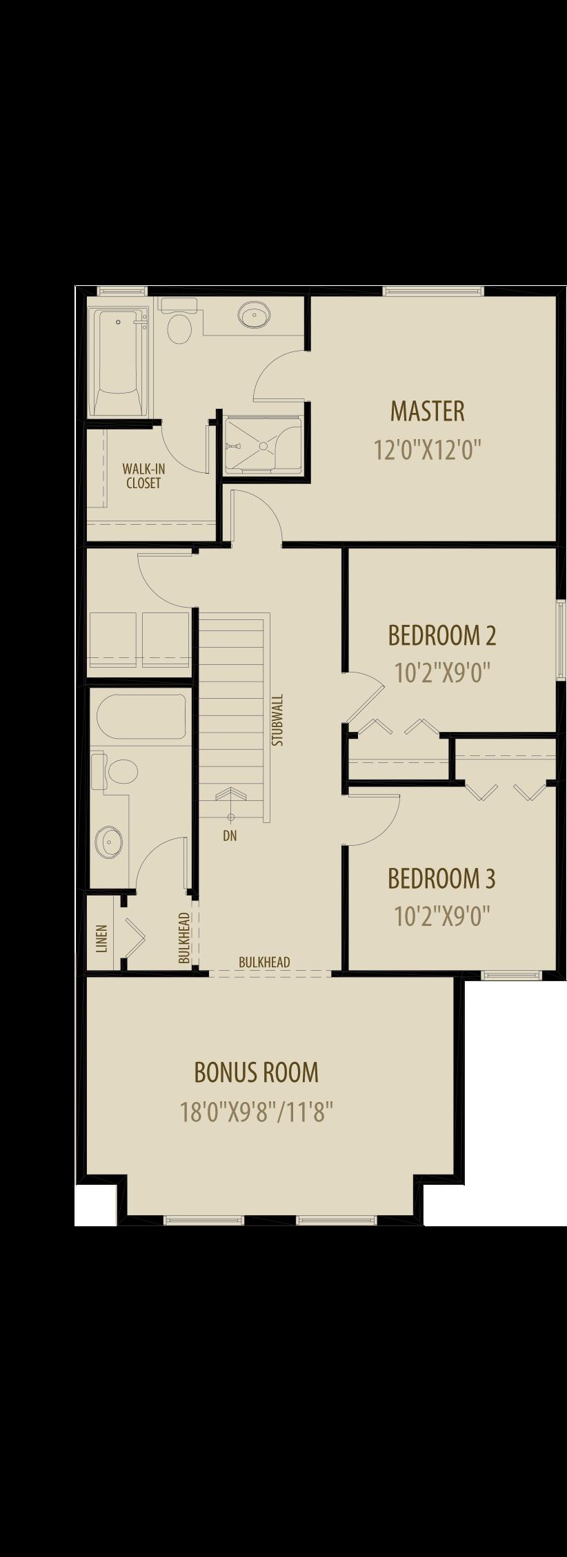 Option 2 Revised Upper Floor Adds 58Sq Ft