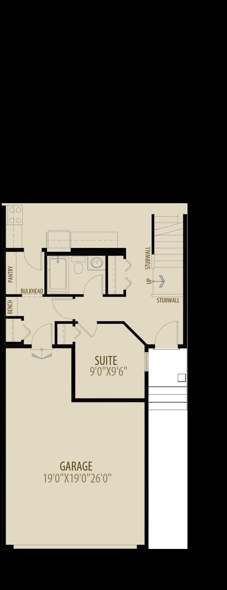 Option 4 Main Floor Suite Adds 70 sq ft