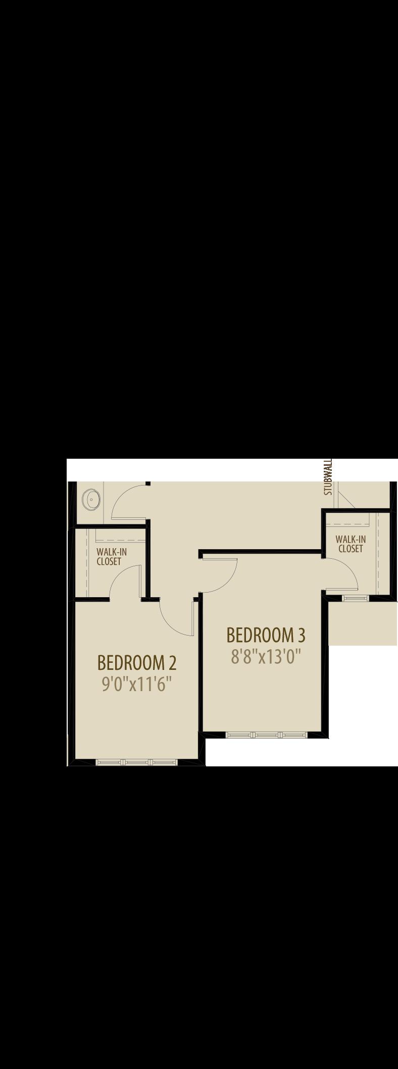 Extended Upper Floorplan adds 57 sq ft