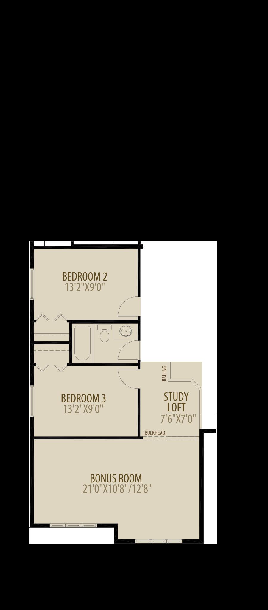 Revised Upper Floor adds 22 sq ft