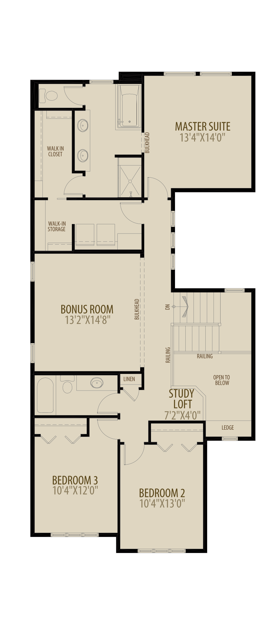 Extended Bedrooms adds 20 sq ft