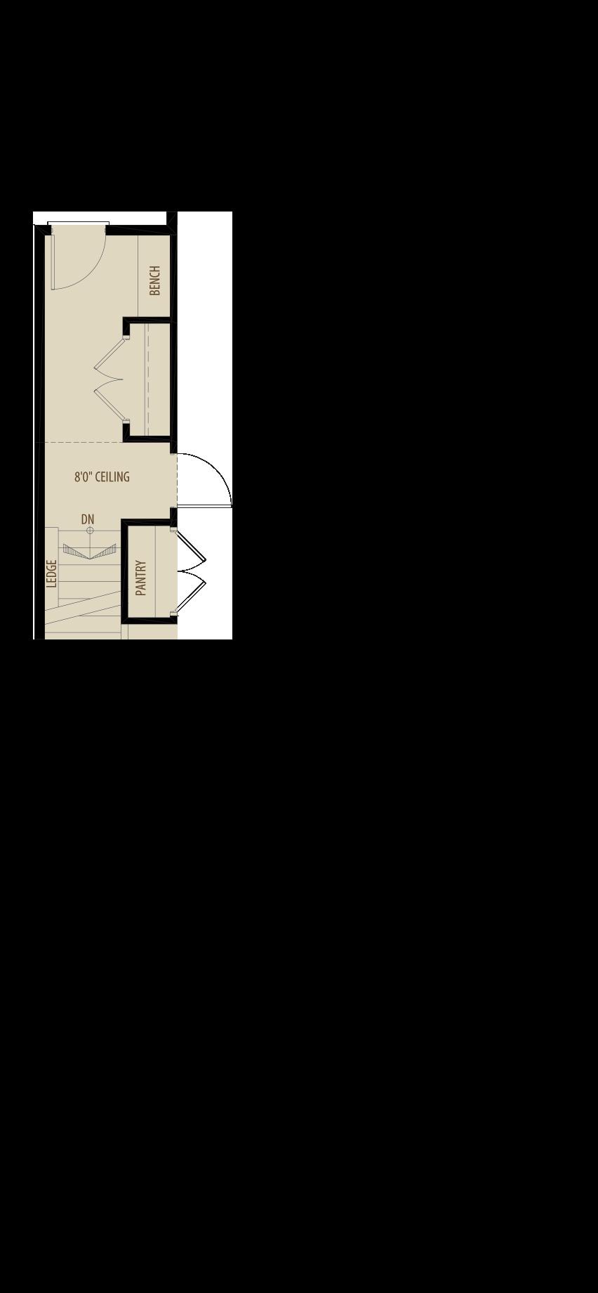 Basement Access Adds 15 sq ft