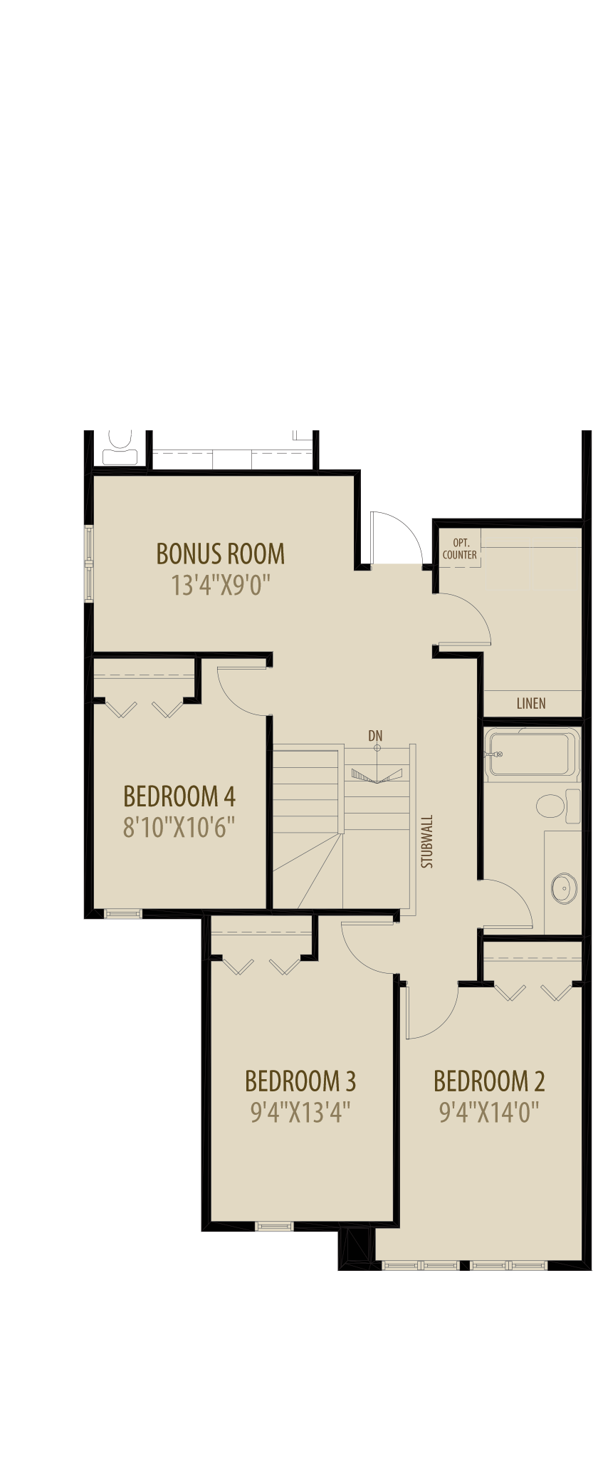 Option 4 4th Bedroom Revised adds 100 sq ft
