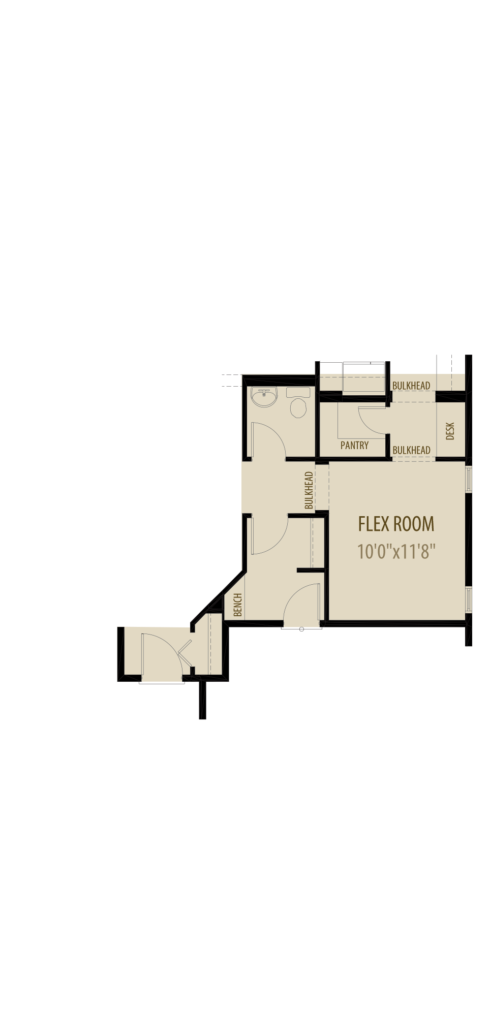 Option 2 Flex Room Adds 165Sq Ft