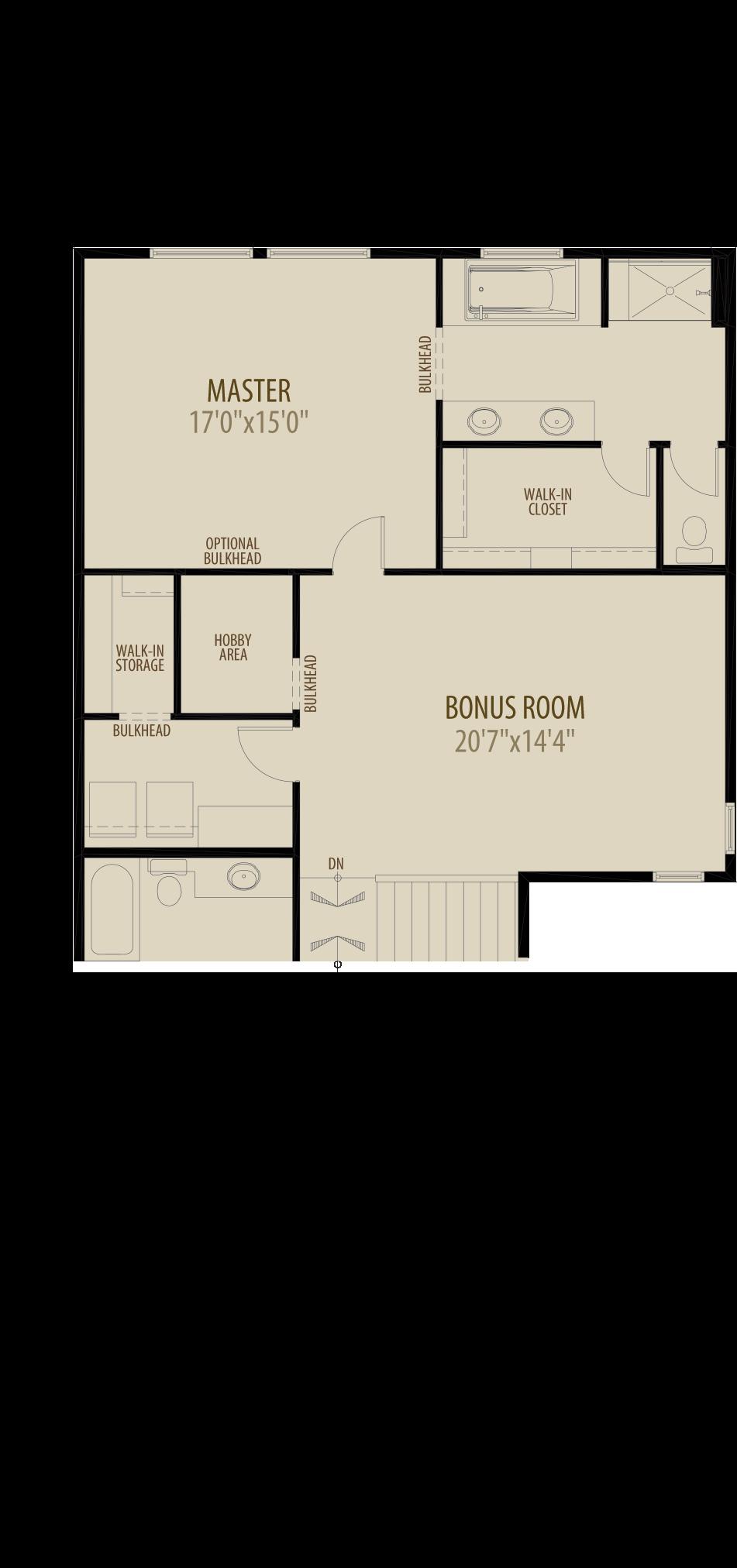 Centre Bonus Room w Hobby Room