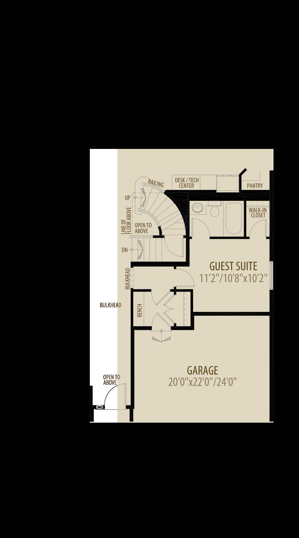 Option 2 Guest Suite adds 176sq ft