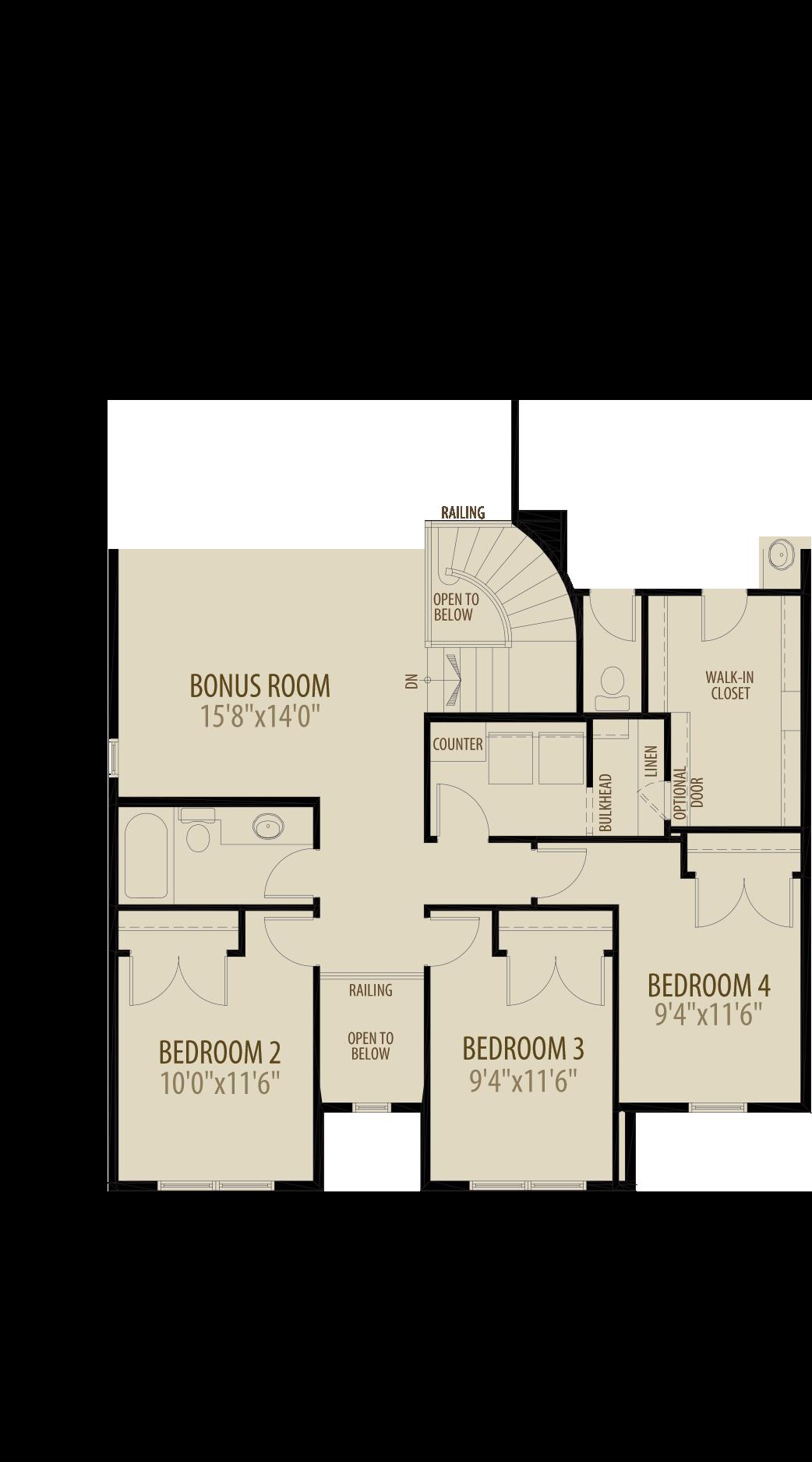Option 3 4th Bedroom
