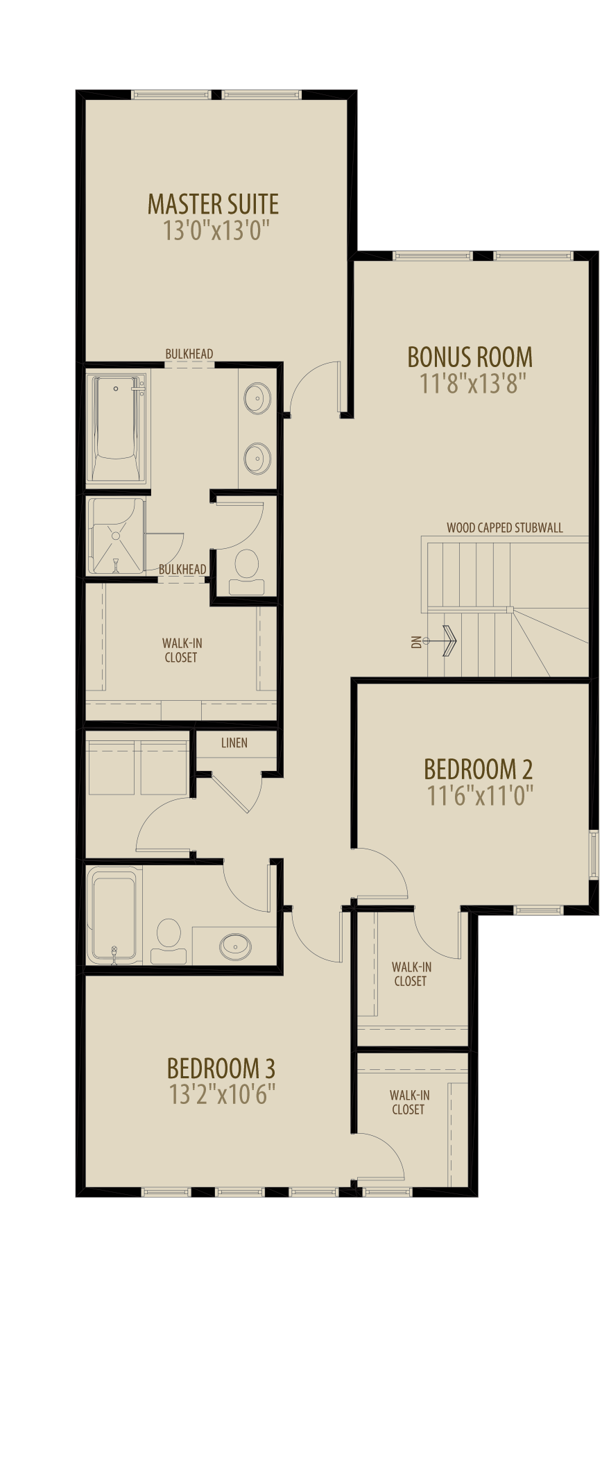 Expanded Bedrooms Adds 51 sq ft