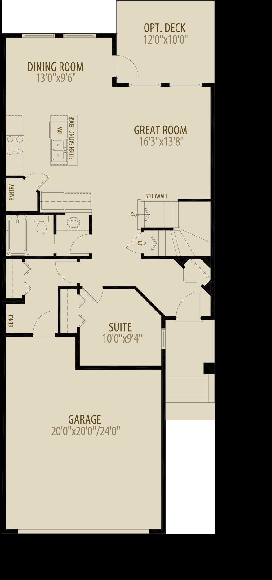 Main Floor Suite Adds 44 sq ft