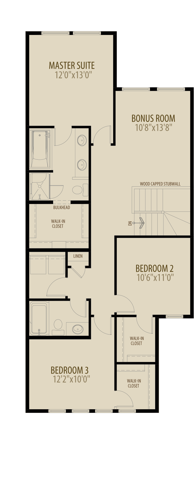 Expanded Bedrooms Adds 46 sq ft