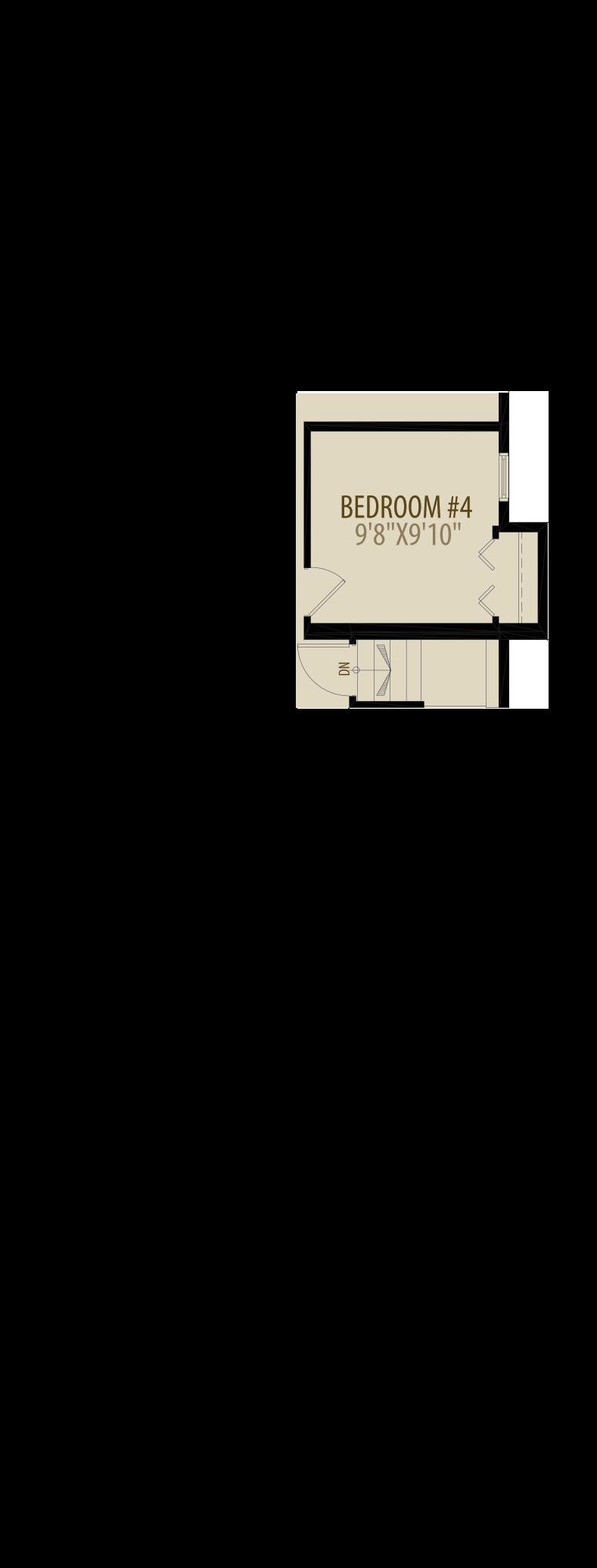 Main Floor Bedroom Adds 12 sq ft