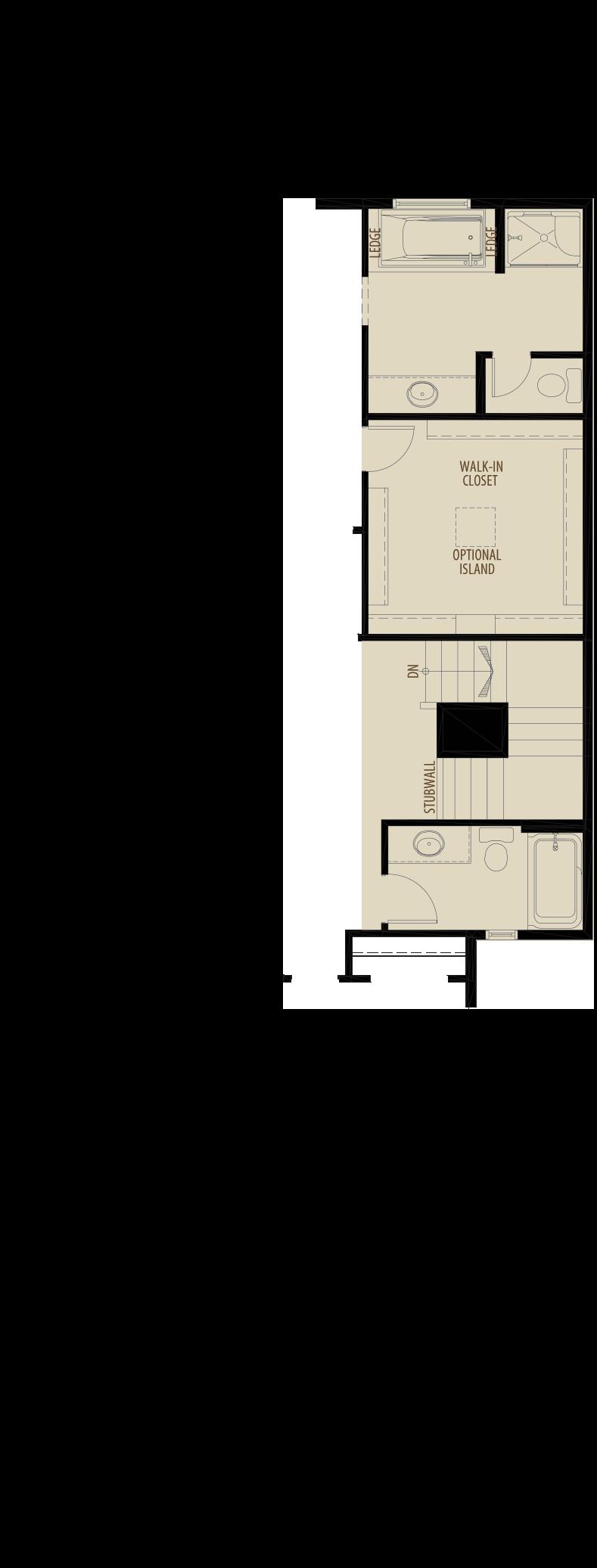 Optional Main Bath Adds 44 sq ft
