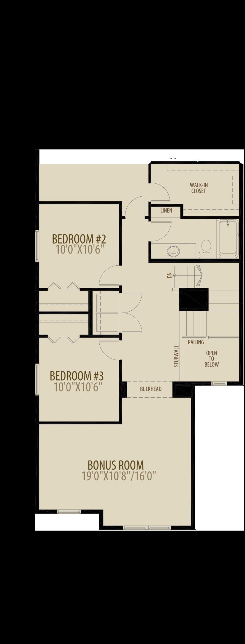 Optional Upper Floor Adds 60 sq ft