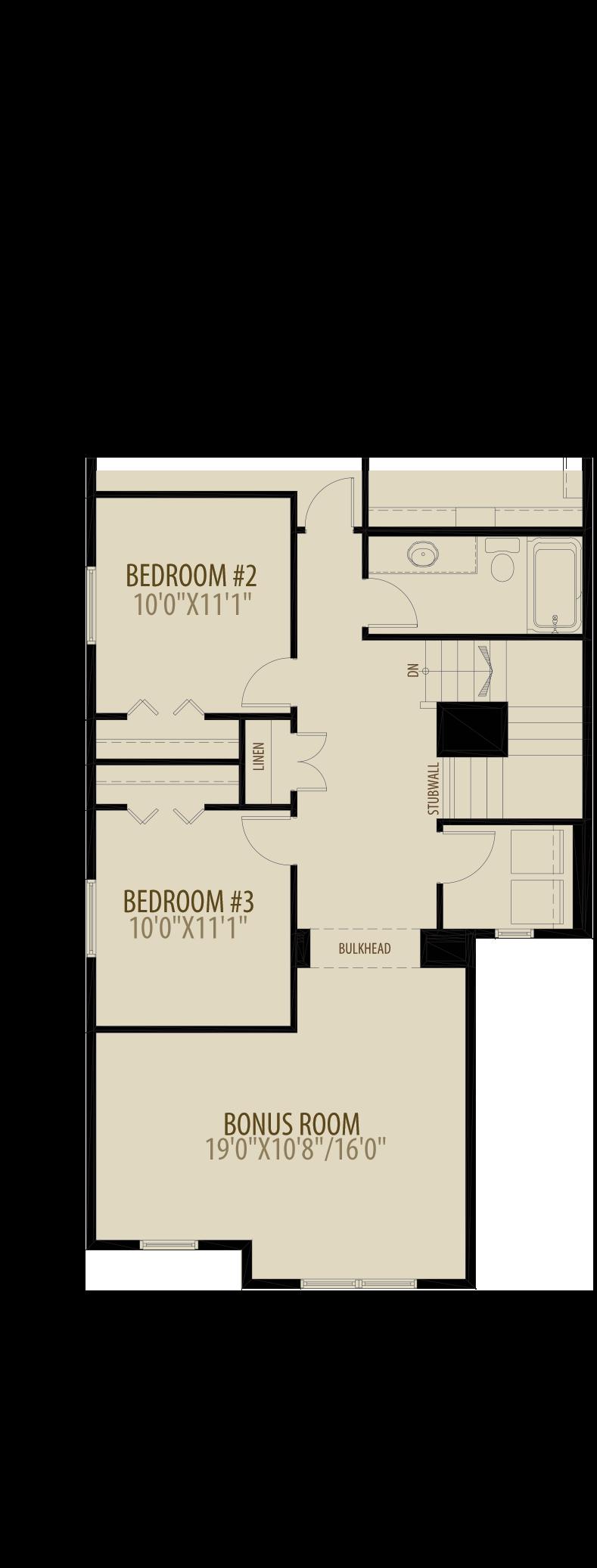 Optional Upper Floor w Laundry Adds 44 sq ft