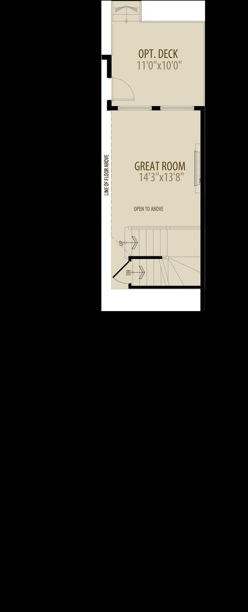 Open To Below Bonus Room Removes 54 sq ft