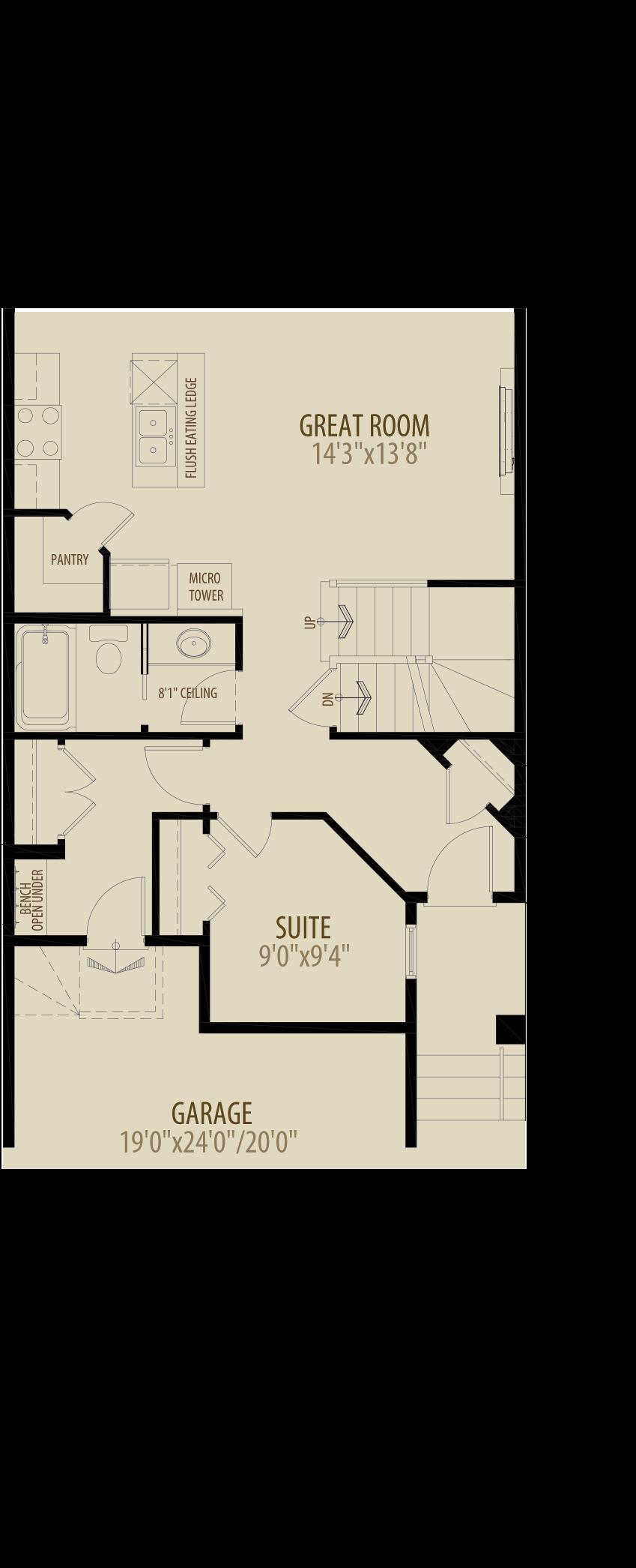 Main Floor Suite Adds 40 sq ft