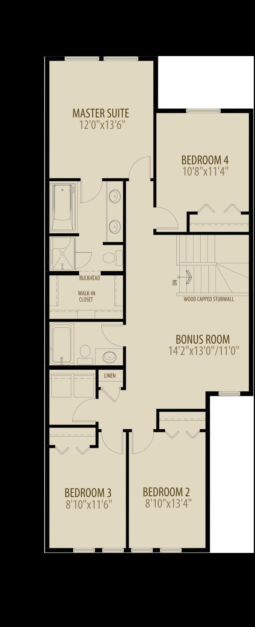 4th Bedroom Bonus Room Adds 105 sq ft